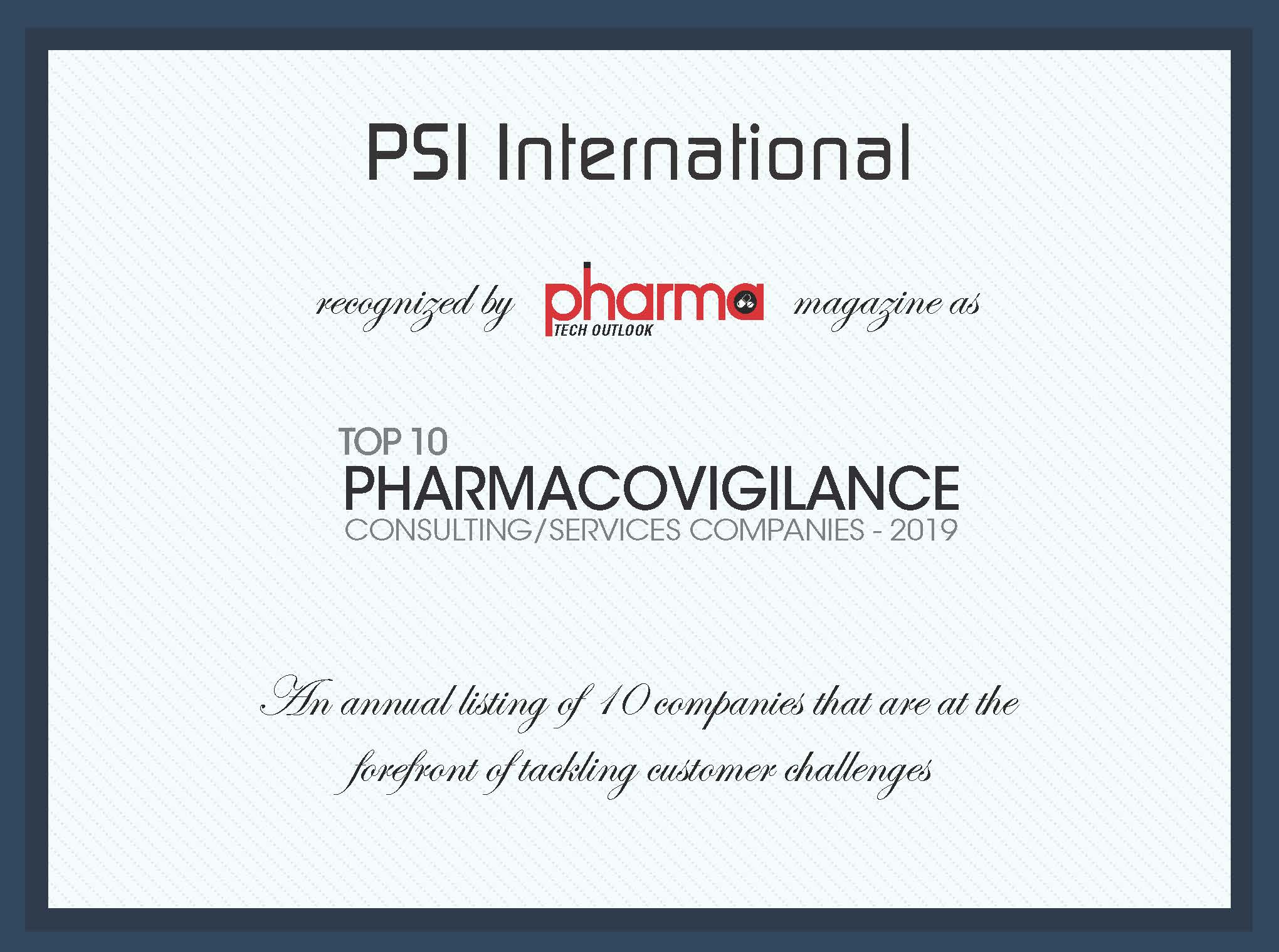 Top 10 Pharmacovigilance Consulting / Services Companies
